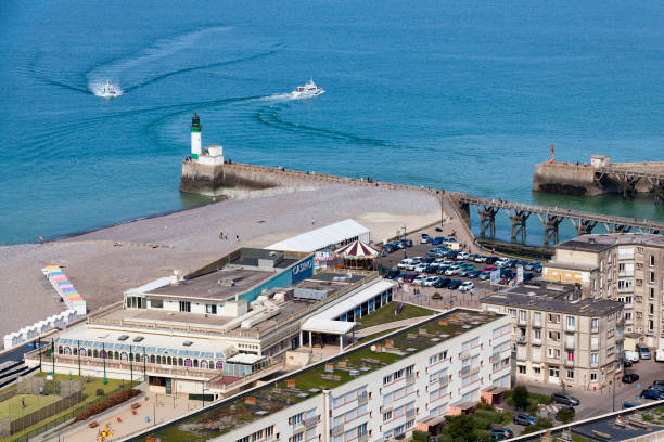 Aerial view of the Casino Joa in the Treport stock photo