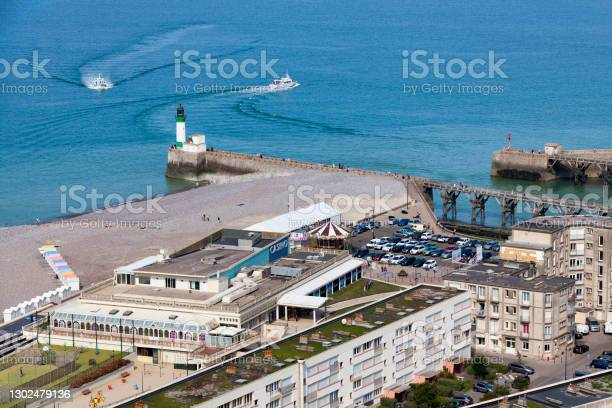 Aerial View Of The Casino Joa In The Treport Stock Photo - Download Image Now