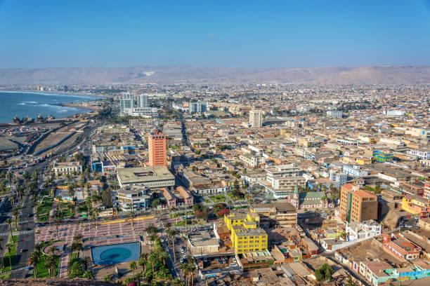 Luftaufnahme der Stadt Arica, Chile – Foto