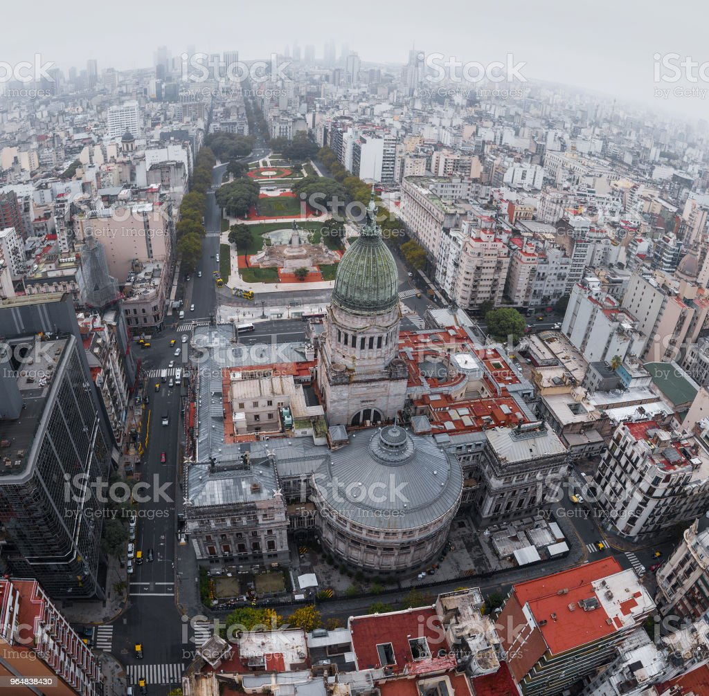 Aerial view of the City of Buenos Aires royalty-free stock photo