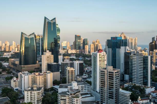 Blick auf die Skyline der Stadt von Panama-Stadt Geschäftsviertel – Foto