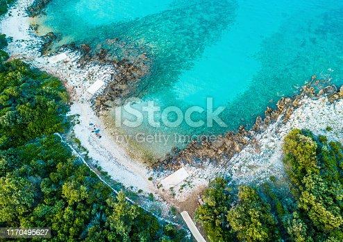 istock Aerial view of the coastline 1170495627