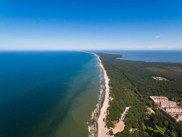 Aerial view of the Curonian Spit