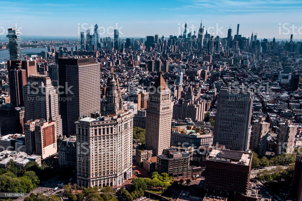 aerial view of the david n dinkins manhattan municipal building in lower manhattan new york taken from a helicopter stock photo download image now istock https www istockphoto com photo aerial view of the david n dinkins manhattan municipal building in lower manhattan gm1152155242 312476957