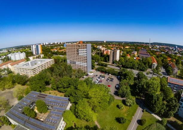 Aerial view of the district Bruck of the city of Erlangen in Bavaria Aerial view of the district Bruck of the city of Erlangen in Bavaria, Germany erlangen stock pictures, royalty-free photos & images