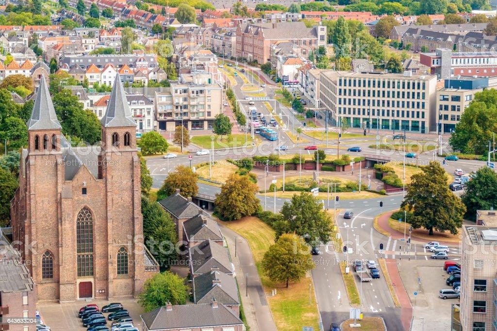 Aerial view of the Dutch city of Arnhem foto