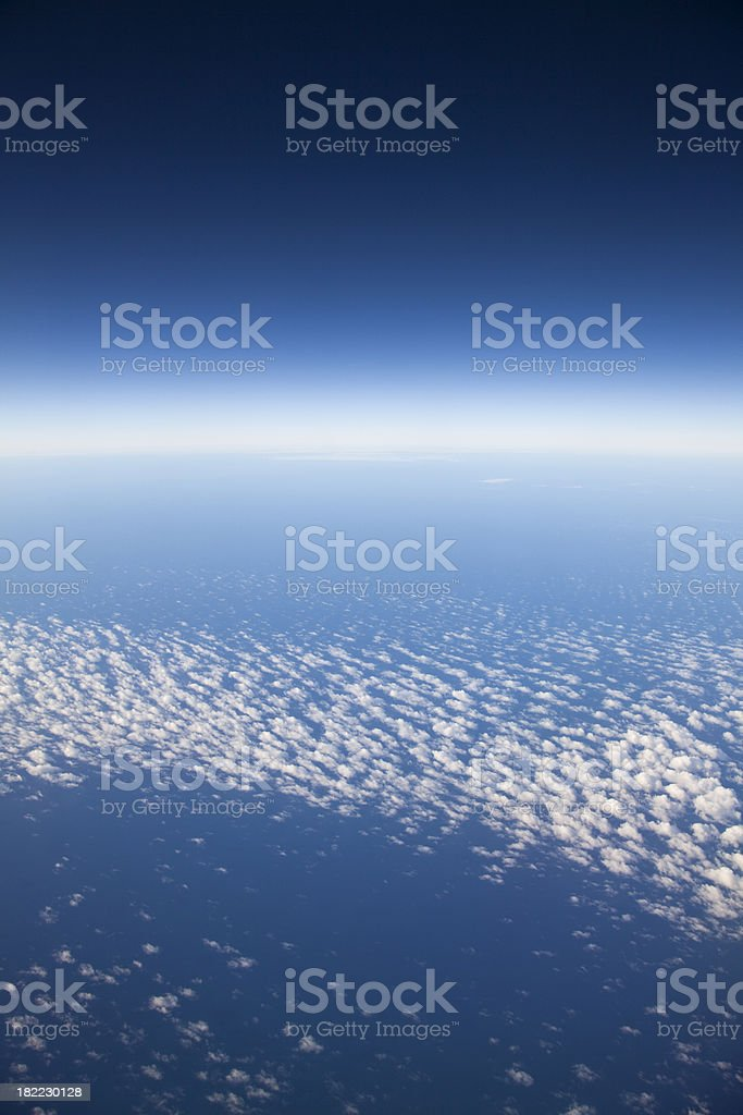 Aerial View of the Earth's Horizon royalty-free stock photo