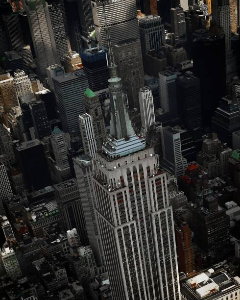 Aerial View of the Empire State Building stock photo