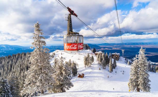 Aerial view of the famous ski slope in Poiana Brasov