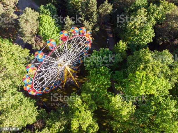 Flygfoto Över Pariserhjulet I Nöjesparken-foton och fler bilder på Avkoppling