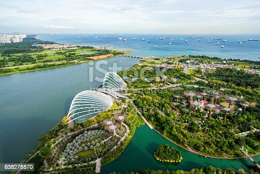 istock Aerial view of the FlowerDome and cloud forest 638278870