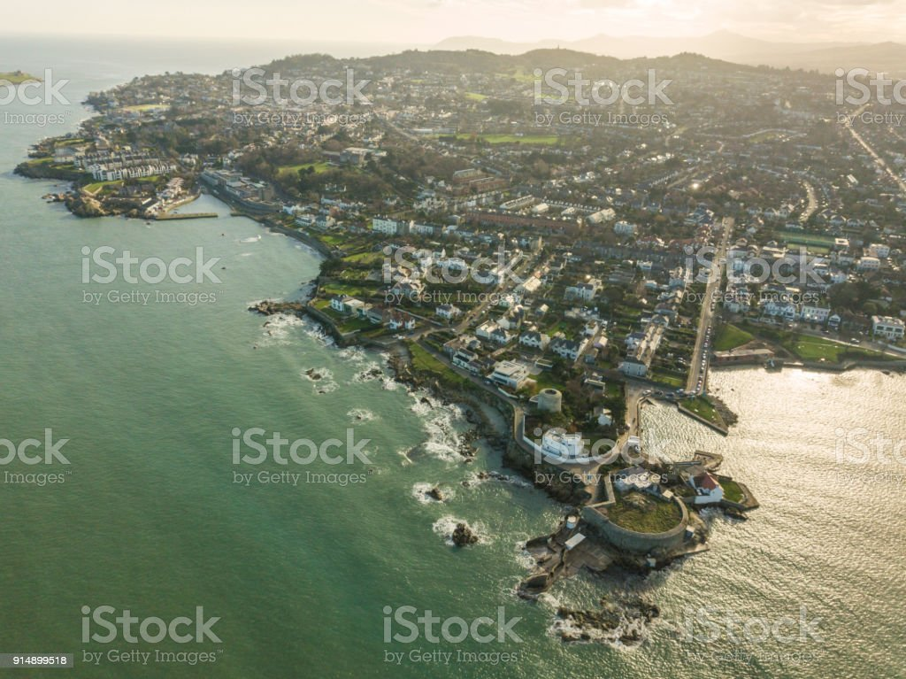 Aerial view of the forty foot, Sandycove, Dublin, Ireland. royalty-free stock photo