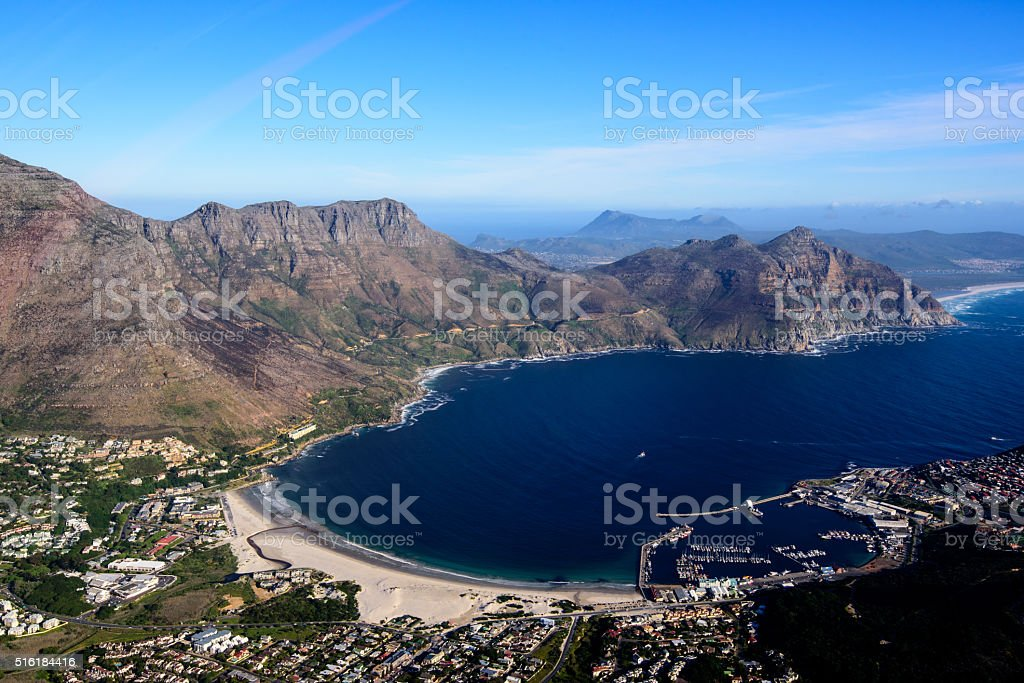 Aerial view of the glorious Cape Peninsula stock photo