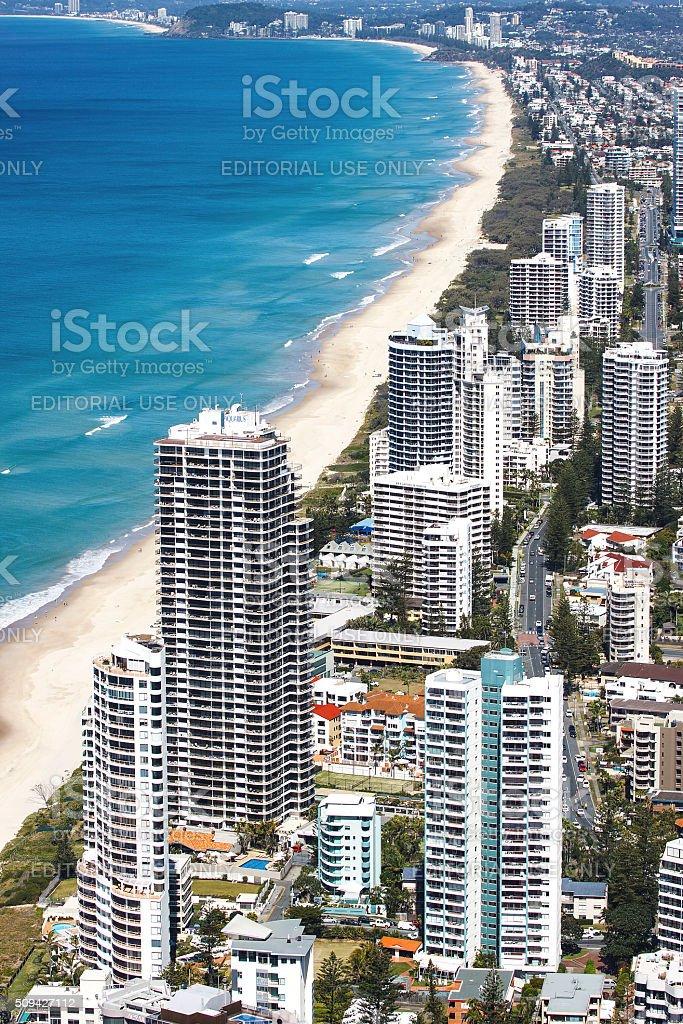 Aerial view of the Gold Coast, Australia stock photo