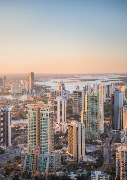 aerial view of the gold coast - north stock photos and pictures