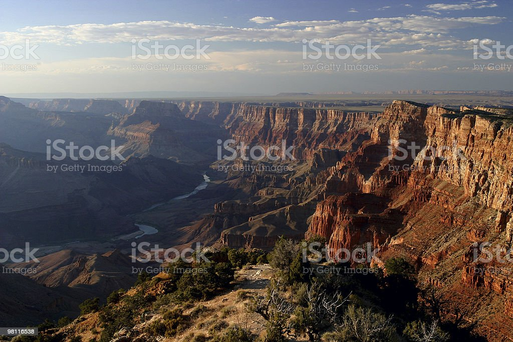 Aerial view of the Grand Canyon royalty-free stock photo