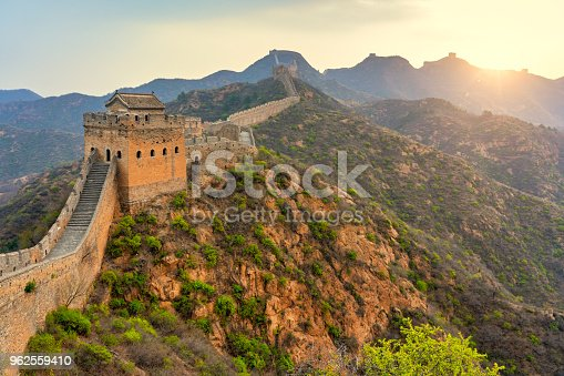 istock Aerial view of The Great Wall of China 962559410