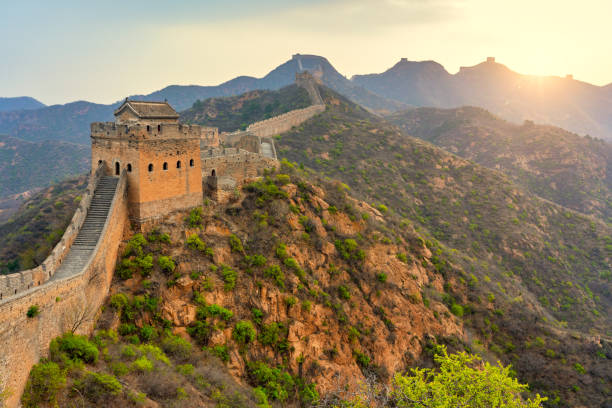Luftaufnahme von The Great Wall Of China – Foto
