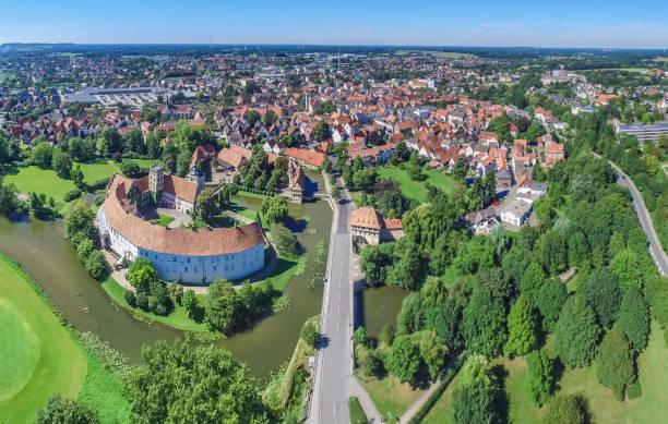 Luftbild von der historischen Stadt Steinfurt – Foto