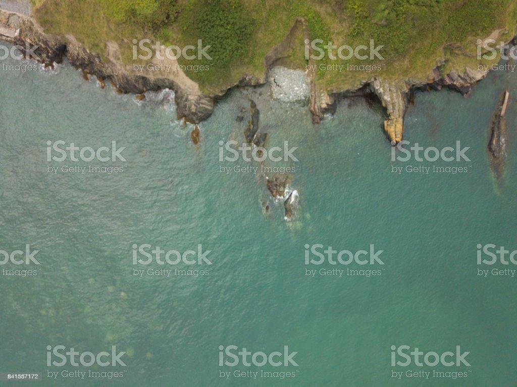Aerial view of the Irish coastline royalty-free stock photo