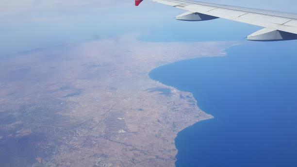 Luftaufnahme der Insel Zypern, der Südküste, Larnaca Bucht. Zypern – Foto