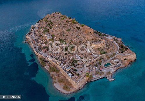 Aerial view of the island of Spinalonga