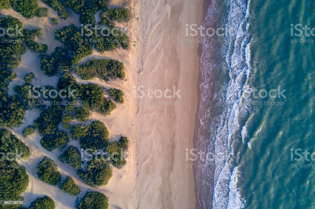 Aerial view of the Italian beach stock photo