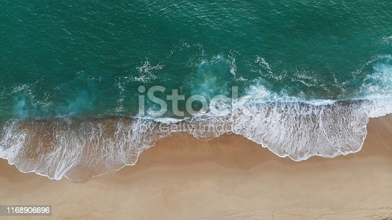 Drone picture from the Casernes beach at Seignosse