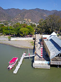 istock Aerial view of the lighthouse of Ajijic from Chapala lake 1300186583