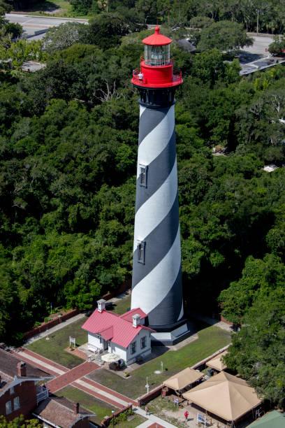 등대 세인트 어거스틴 플로리다의 공중 보기 스톡 사진