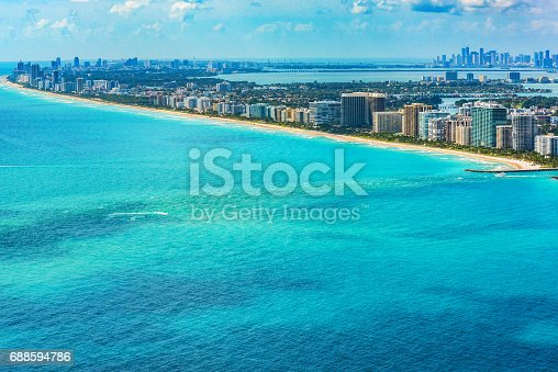 802893644 istock photo Aerial View of the Miami Florida Metropolitan Area 688594786