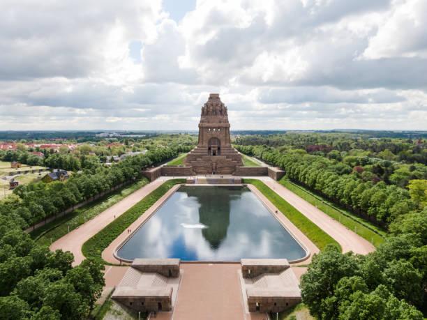 Luftaufnahme des Denkmals zur Völkerschlacht in Leipzig – Foto