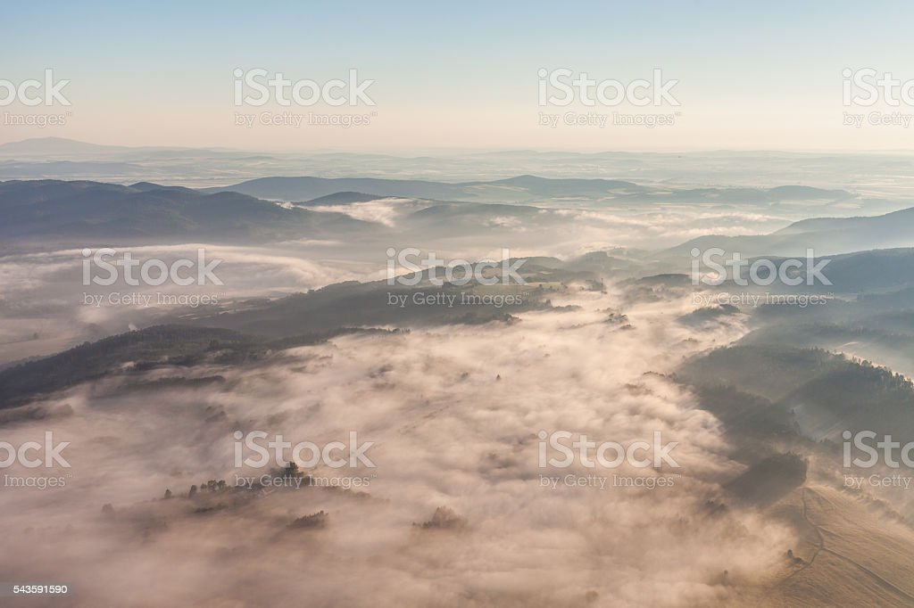 aerial view of the morning landscape – Foto