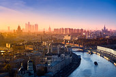 istock Aerial view of the most famous buildings in Moscow (XXXL) 108312745