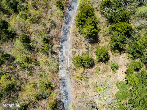 820775768 istock photo Aerial view of the mountain path 970757198