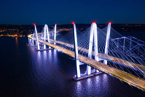 Aerial view of the New Tappan Zee Bridge