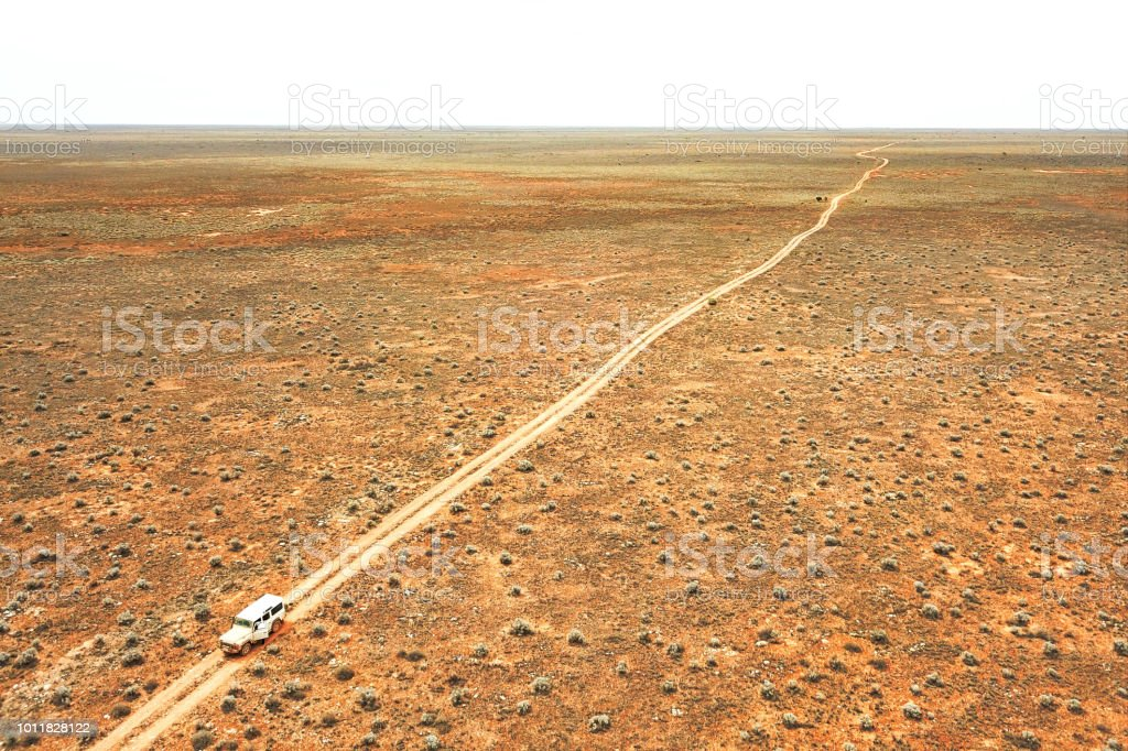 Aerial view of the Nullarbor Plain stock photo