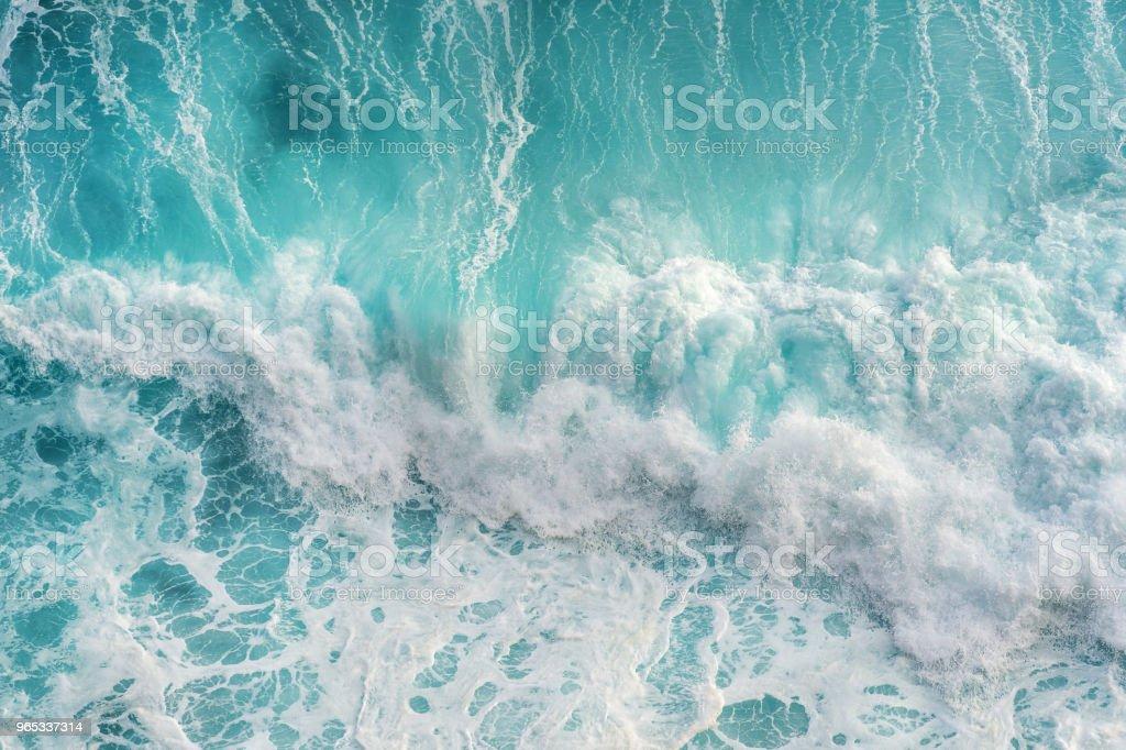 바다 물결의 공중 전망입니다. - 로열티 프리 0명 스톡 사진