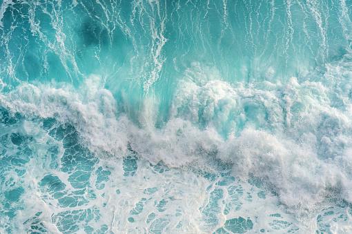바다 물결의 공중 전망입니다 0명에 대한 스톡 사진 및 기타 이미지