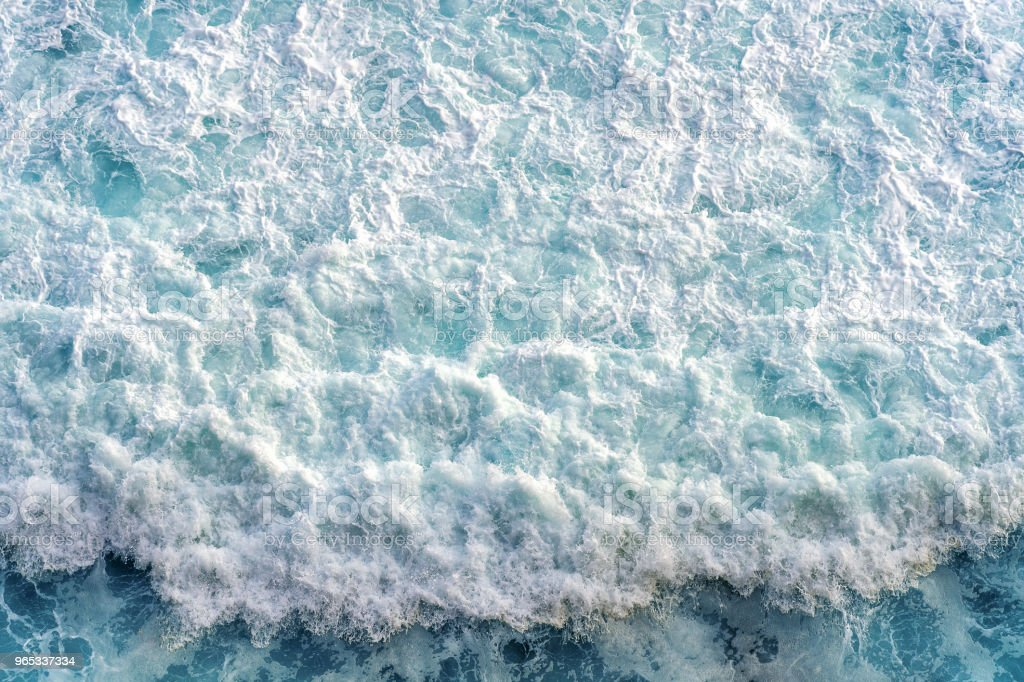 Aerial view of the ocean wave. royalty-free stock photo