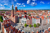 istock Aerial view of the old town in Gdansk with amazing architecture, Poland 1251293712