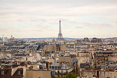 istock Aerial view of the Paris from above 1075129434