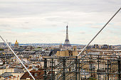 istock Aerial view of the Paris from above 1075130706