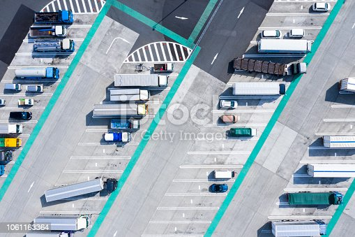 1142724396 istock photo Aerial view of the parking lot. 1061163364