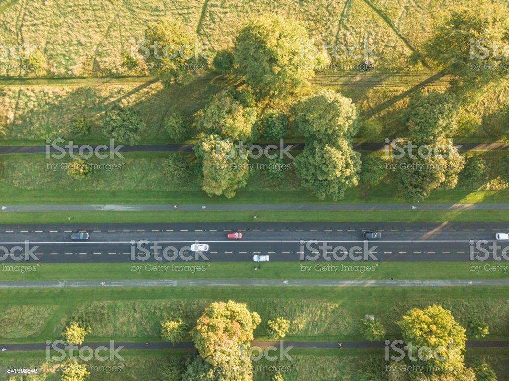 Aerial view of the Phoenix Park, Dublin, Ireland. stock photo