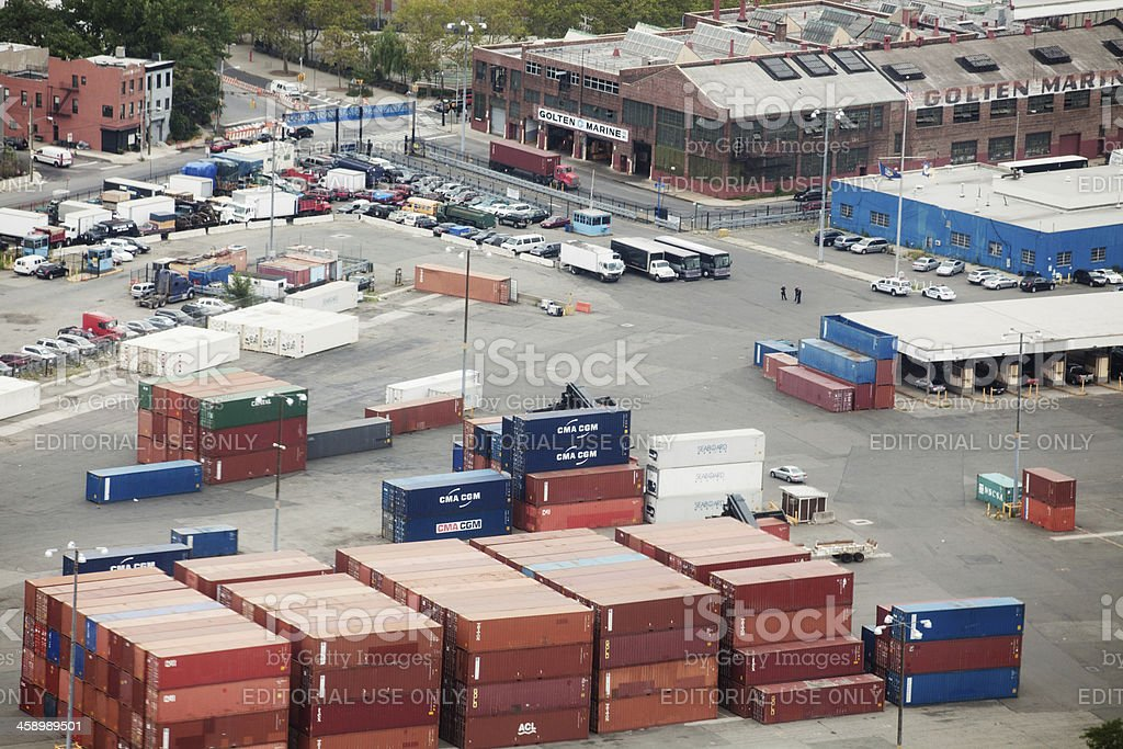 Aerial view of the Ports America Inc. royalty-free stock photo