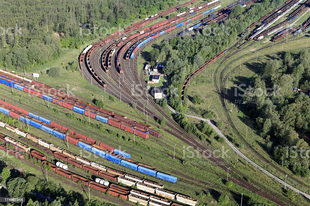 Aerial view of the Railroad Junction stock photo