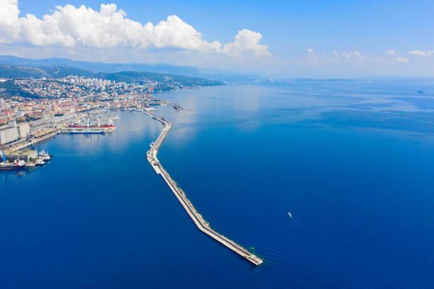 Aerial View Of the Rijeka City stock photo