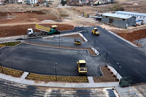 Luftbild von der Straßenbau – Foto