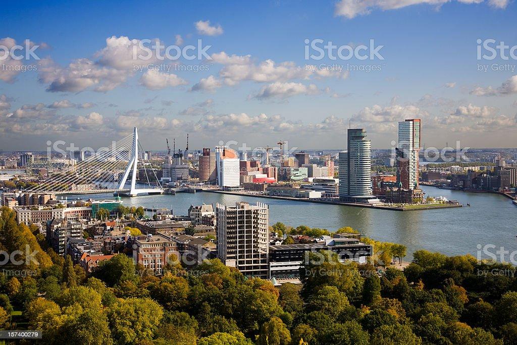 Aerial view of the Rotterdam skyline - Royalty-free Architectuur Stockfoto
